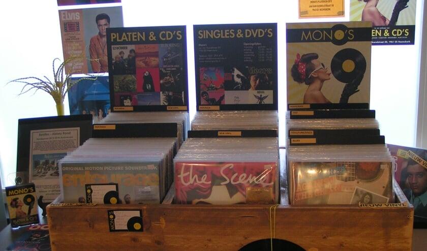 De nieuwe collectie vinyl grammofoonplaten.