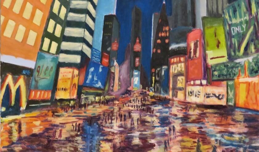 'Times Square', een werk van Cyril Wullems.