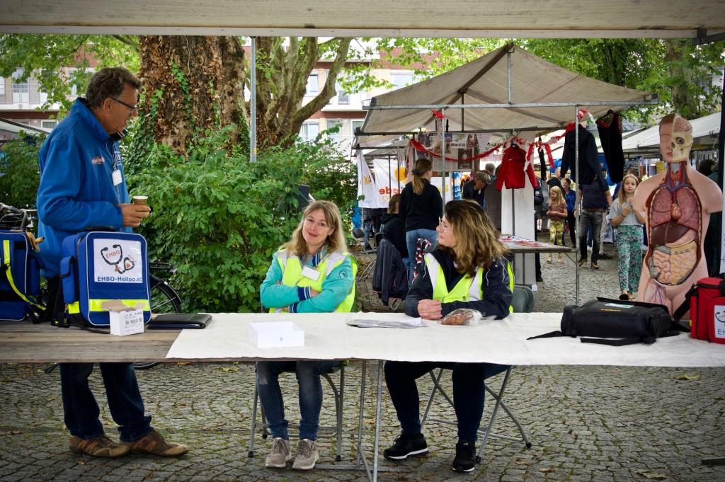 Gelukkig was er weinig te doen voor de EHBO-ers. Alleen informatieverstrekking. Foto: STiP Fotografie © Uitkijkpost Media B.v.