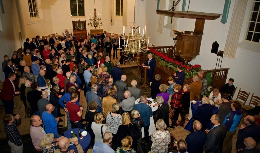 Burgemeester Hans Romeyn houdt zijn jaarlijkse nieuwjaarstoespraak.