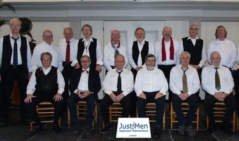 Mannenkoor 'JustMen' heeft een zeer gevarieerd repertoire.