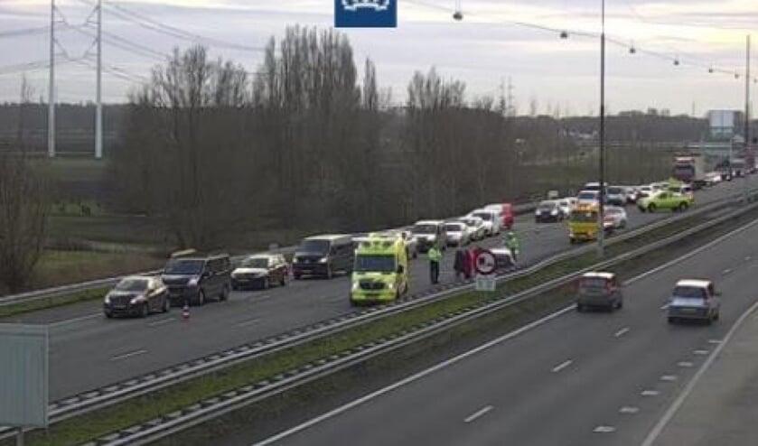 Een ongeval met meerdere voertuigen