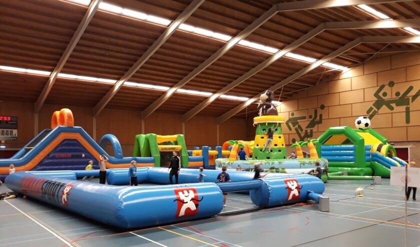 Kinderen kunnen zich lekker uitleven tijdens het Sportspektakel in sporthal De Zien