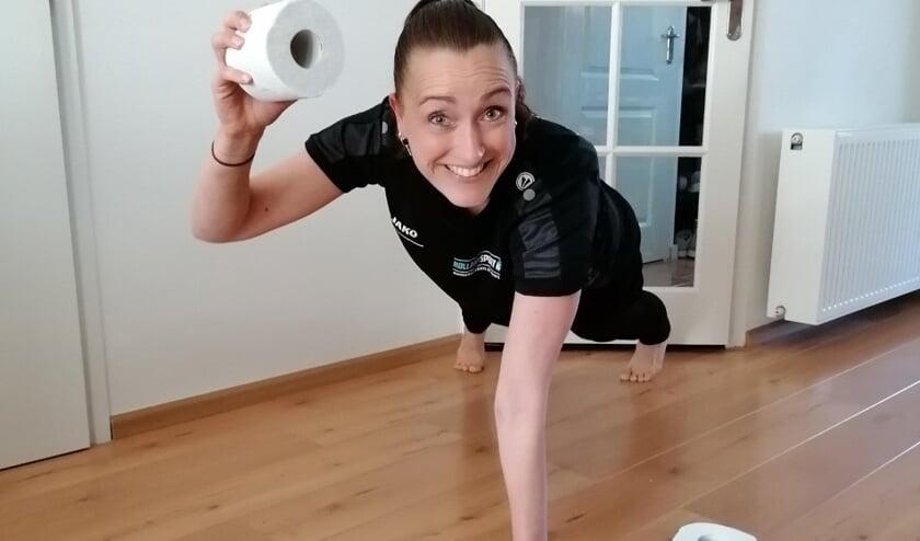 Buurtsportcoach Chantal doet ook mee aan de challenge.