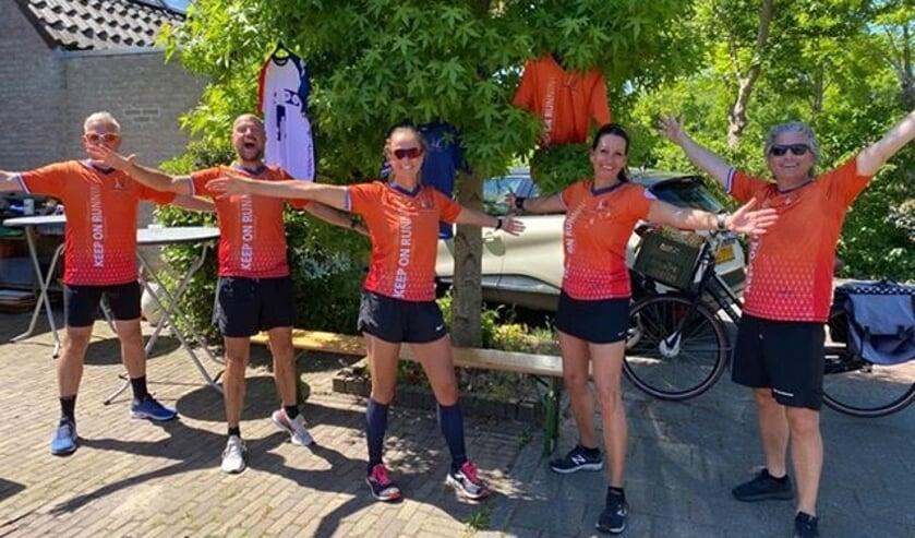 Tijdens het pinksterweekend heeft team Keep on Running in de regio gezamenlijk 532 kilometer afgelegd.