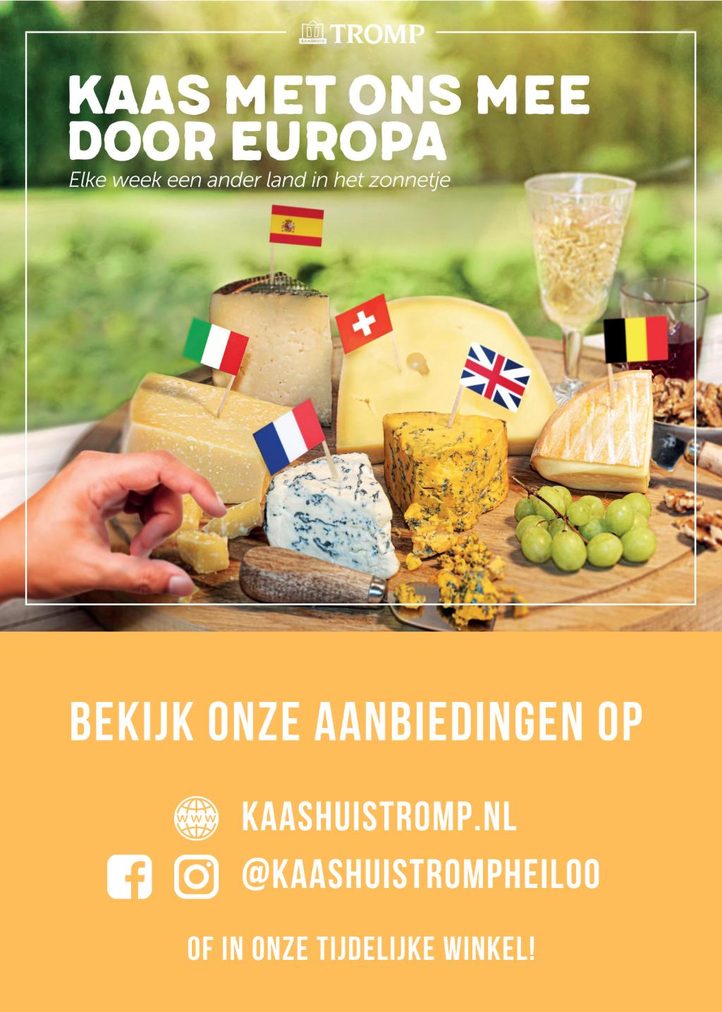 Kaas mee door heel Europa. Foto: aangeleverde foto. © Uitkijkpost Media B.v.