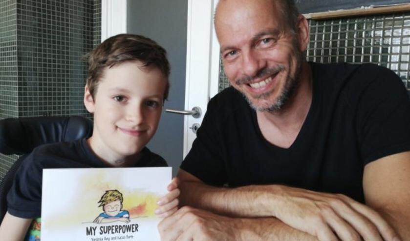 Joost de Jager met zijn zoon Marcos.