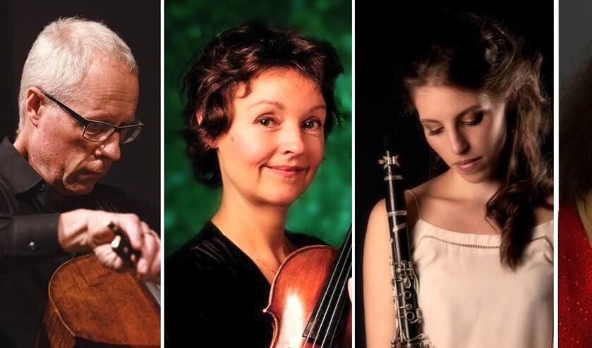 <p>Samen met Arjen Vredenberg vormen deze drie dames Quatuor AEternum.</p>