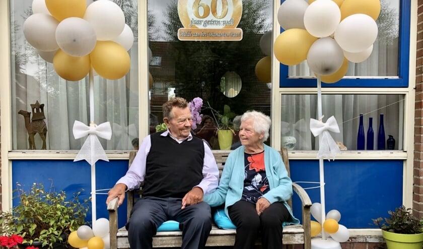 Piet en Truus Brantjes vieren hun 60-jarig huwelijk.