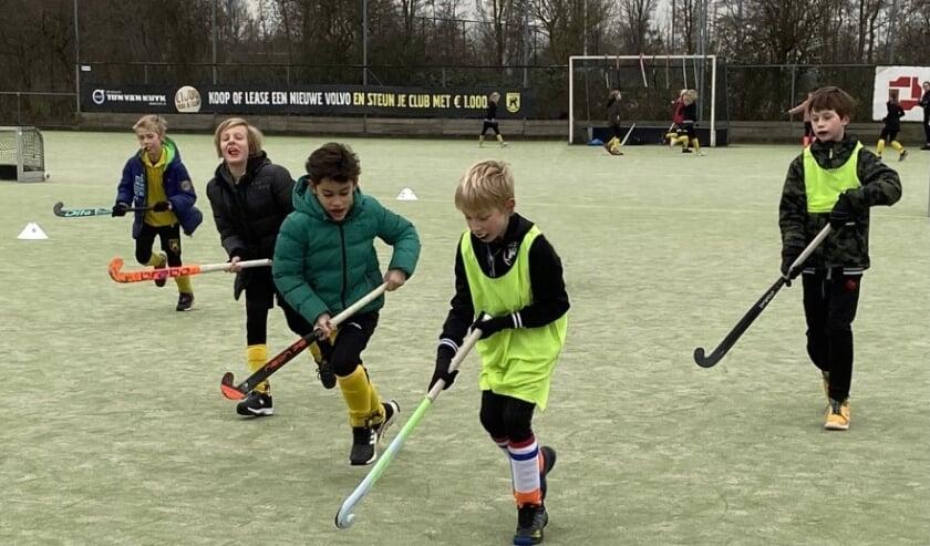 <p>De jonge hockeyers genoten van een gevarieerde training.&nbsp;</p>