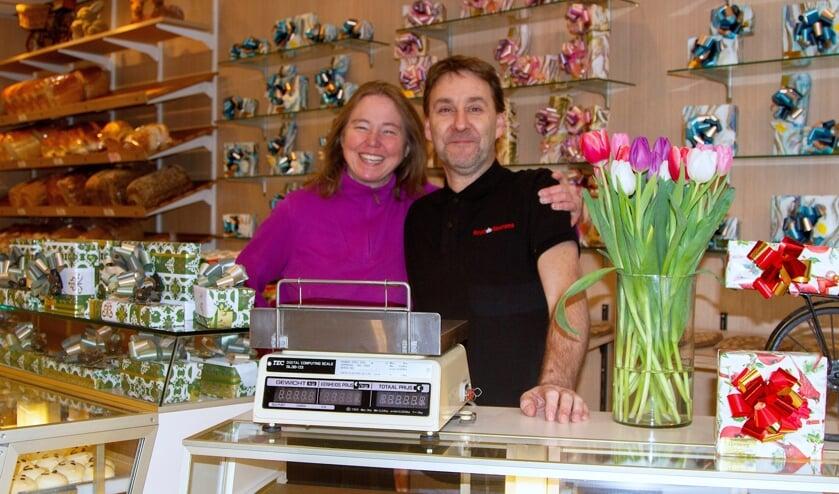 Valentina Jager en Sander Kops van Banketbakkerij Versteeg.