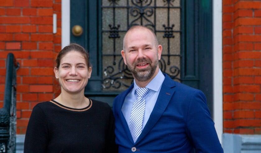 Burgemeester Sebastiaan Nieuwland met echtgenote Daniëlle.