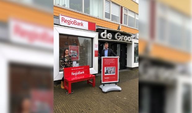 Buurtzame bank in Uitgeest.