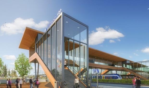Voorlopig ontwerp station Uitgeest.