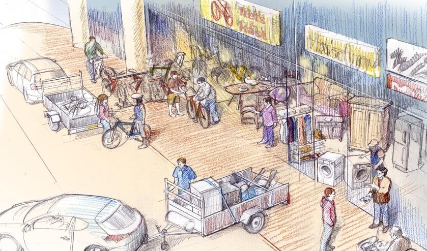 <p>Inleverstraat van de toekomst?</p>