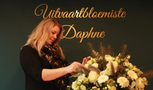 Daphne in haar atelier.