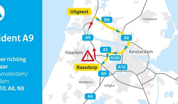 Beter omrijden via Amsterdam en Zaanstad (A10, A8/N8)