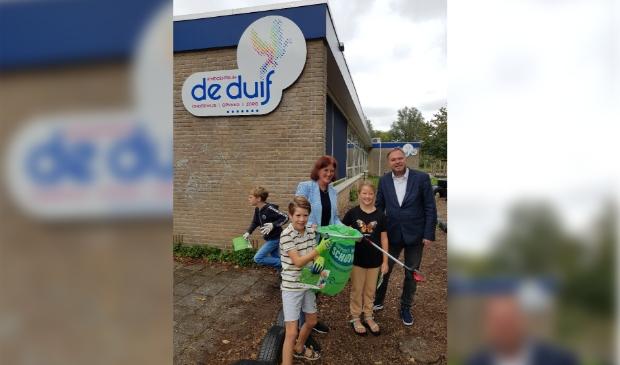 World Clean Up Day bij Basisschool De Duif in Heiloo! Foto:Richard V Bakker © Uitkijkpost Media B.v.