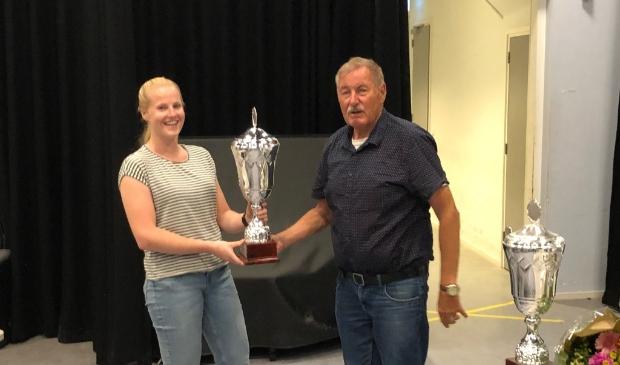 Sanne Veenboer is een van de twee clubkampioenen van het seizoen 2019-2020.