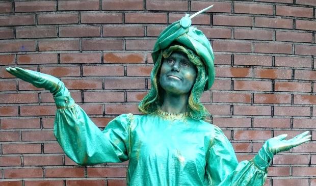 <p>De levende standbeelden zijn een lust voor het oog..</p>