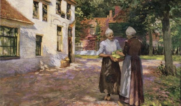 <p>Het schilderij &#39;Zonneschijn in de morgen&#39; uit 1906 van Alice Blair Ring.&nbsp;</p>