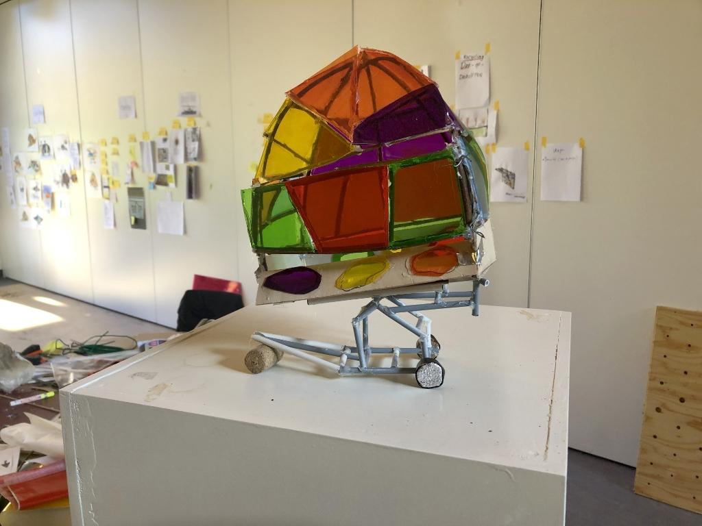 de maquette in het atelier van Dirk  © Let op Woudenberg
