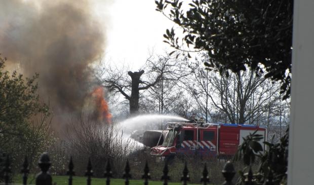 Brand naar schuur op boerderij