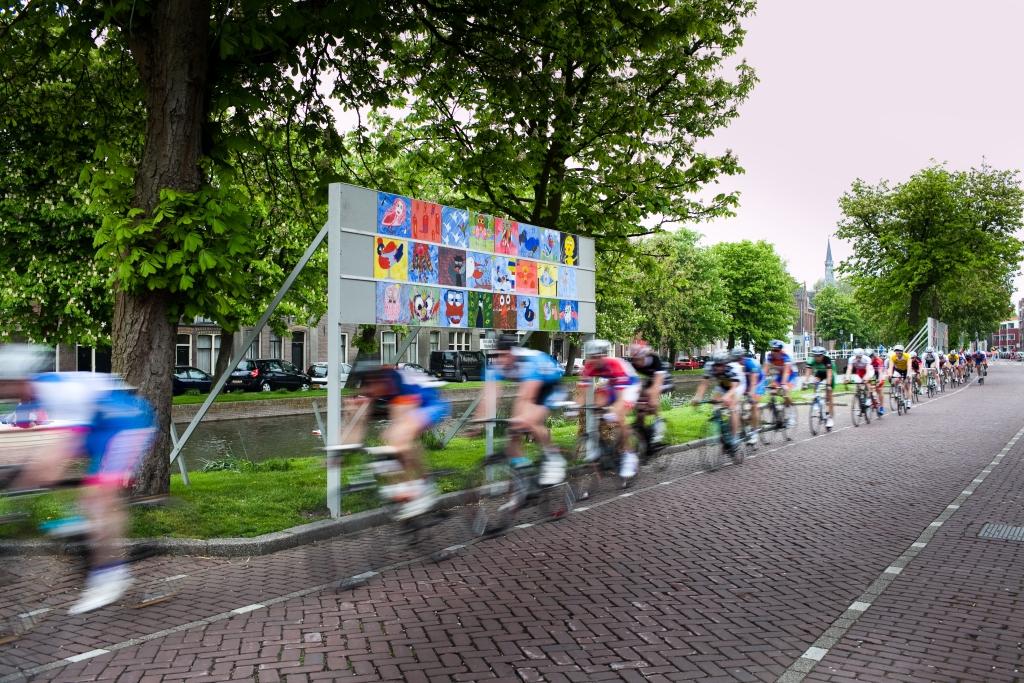 Kunst en wielrennen, een prima combinatie  © Enter Media