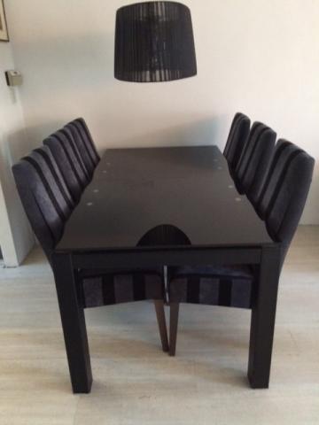 Zwarte Eethoek Stoelen.Eettafel Met 6 Stoelen Marktplein