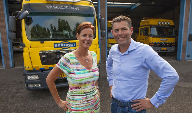Nicole Dorrestijn en Sander Vlaar begonnen jaren geleden hun eigen bergingsbedrijf Bergnet en zijn inmiddels ook actief met pechhulp.