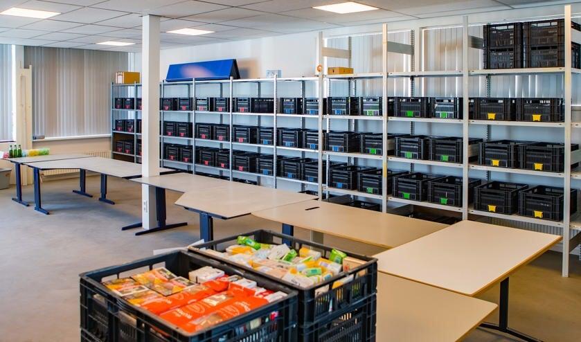 Het voedseluitgiftepunt aan de Noorderweg in Hilversum.