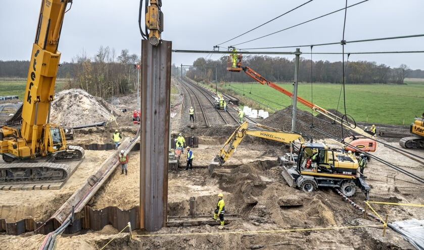 De aanleg van de Voormeerpassage is een hele klus.