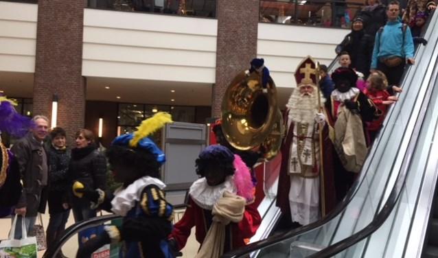 Sinterklaas bezocht ook vorig jaar het winkelcentrum.