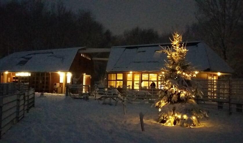 De kijerboerderij in de sneeuw.