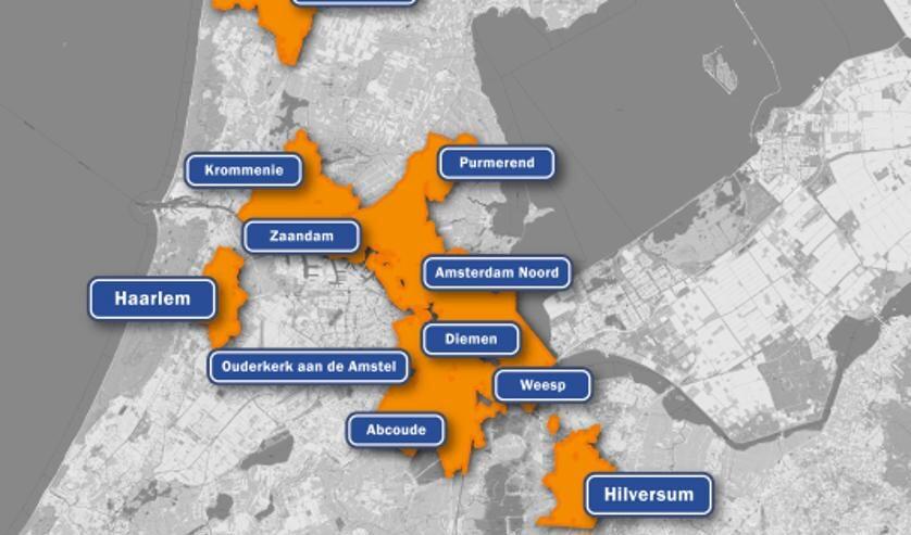 'Amsterdam en omgeving'.
