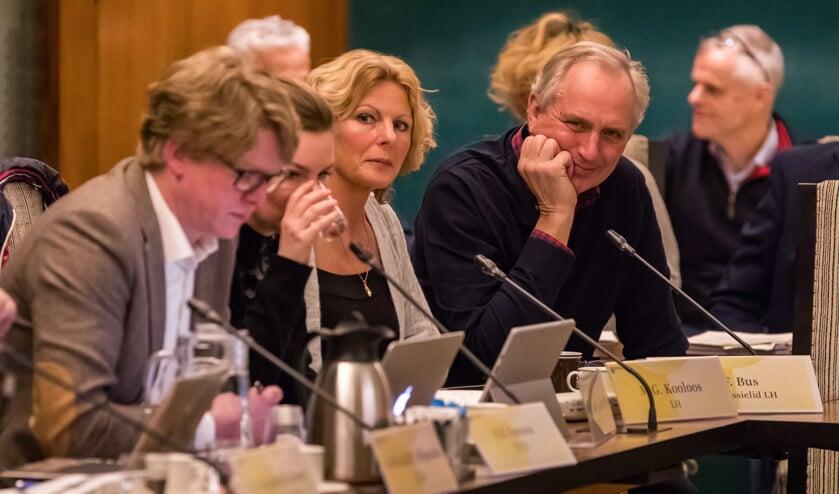 Ben Bus (rechts) tijdens een eerdere raadscommissie.