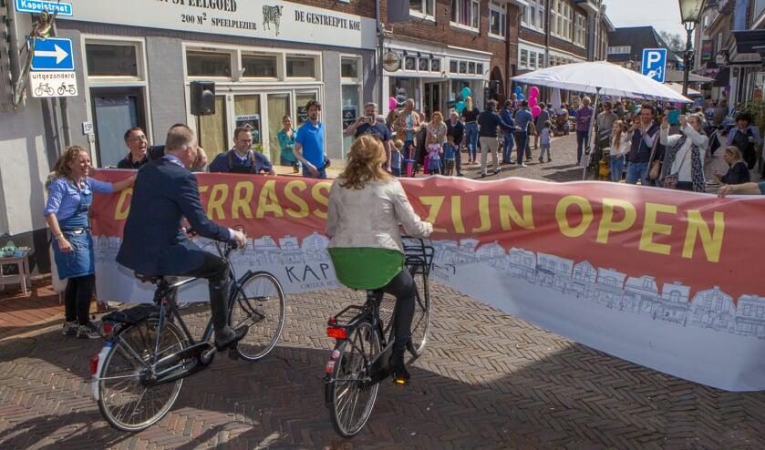 In 2018 werd de Kapelstraat 'terrasstraat' nog feestelijk geopend.