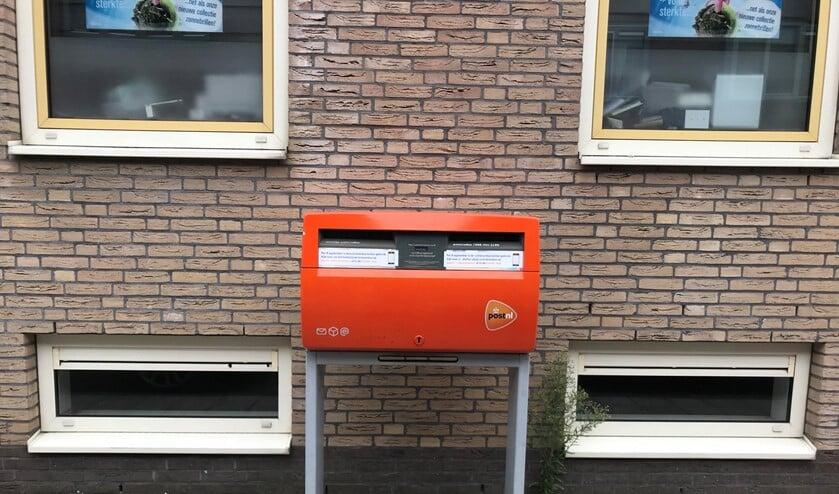 De brievenbus in de Burgemeester de Kievietstraat verdwijnt.