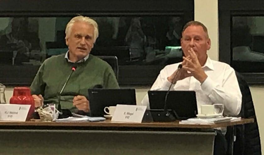 VVD-ers Jan Hoijtink en René Wiegel (r).