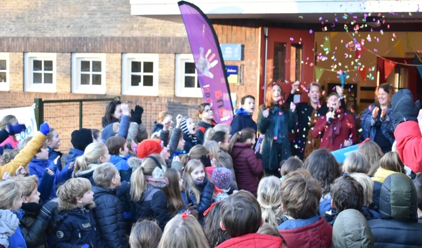 Vorig jaar vierden de leerlingen van de Juliana Daltonschool feest toen ze de erkenning kregen.