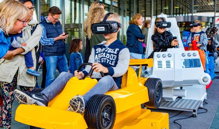 Belangstellenden kunnen kennis maken met virtuele tentoonstellingen.