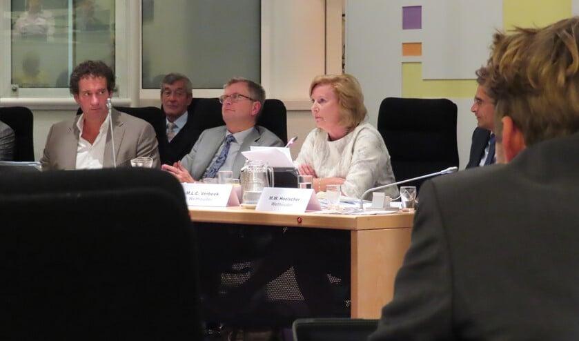 Wethouder Marlous Verbeek tijdens de bewuste raadsvergadering van 26 september.