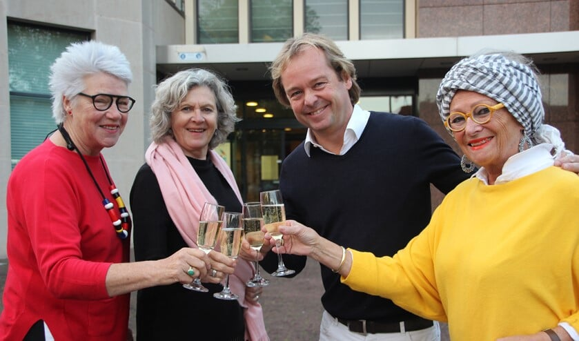V.l.n.r.: Bettie, Ineke, Mark en Antoinetty.