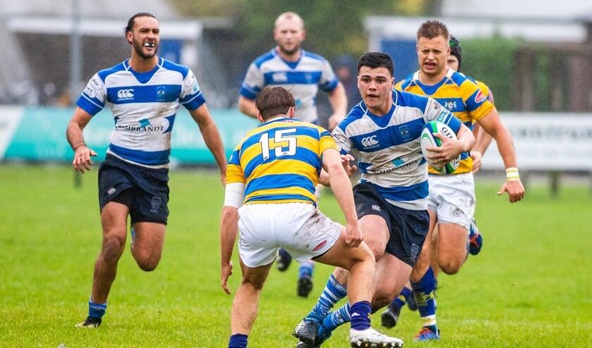 Vorige week wonnen de rugbyers thuis al ruim van de Haagsche Rugby Club.