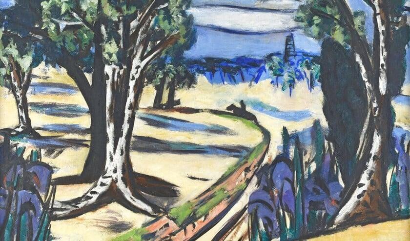 'Landschap met ruiter' van Max Beckmann, olieverf uit 1943.