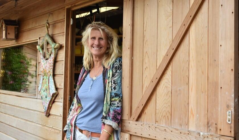 Marianne deed half oktober ook mee met de Kunstroute in Muiderberg.