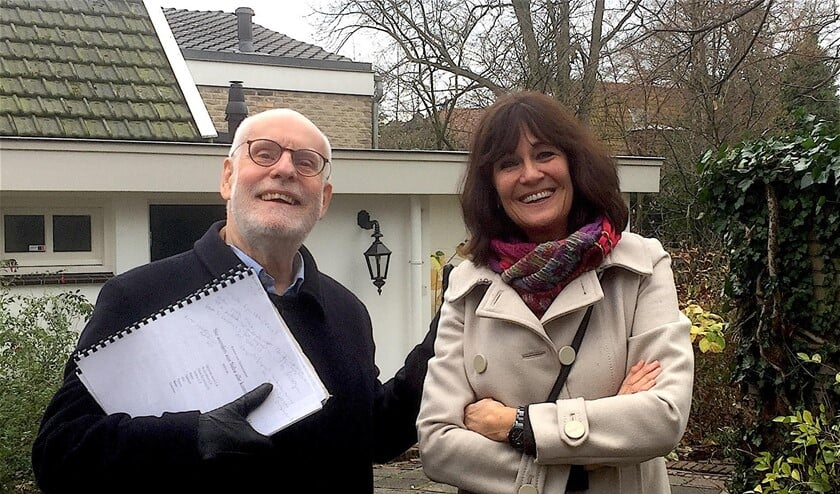Dirigent Ton Koopman en Mariëtte Nieuwboer van de Stichting Laren Klassiek.