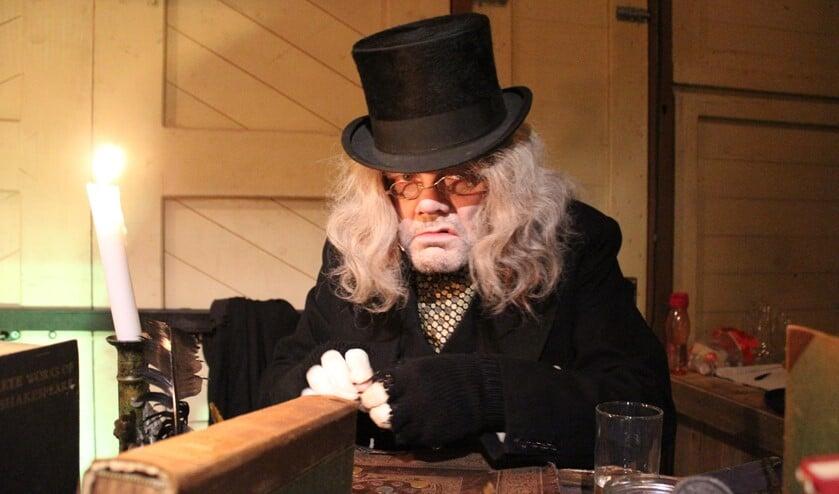 Laarder Gideon Calis speelt op 20 december Ebenezer Scrooge.