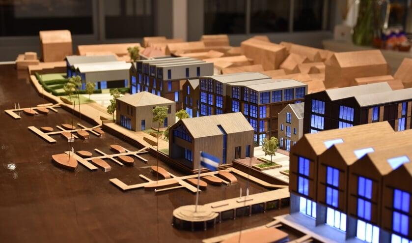 Maquette van de nieuwe wijk.