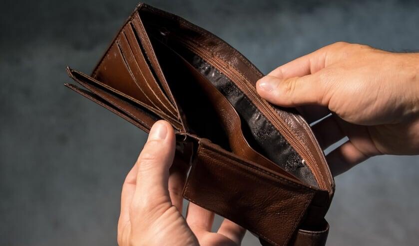 Een portemonnee, niet degene die wordt gemist.
